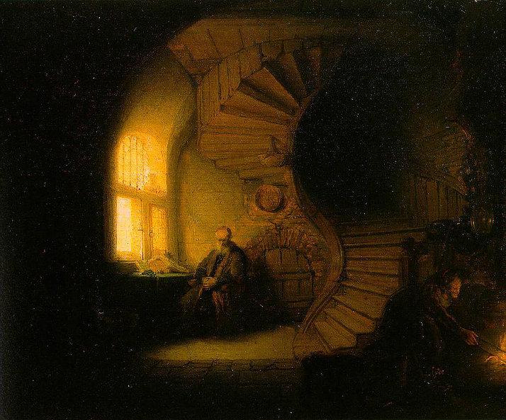 Le Philosophe en méditation - Rembrandt